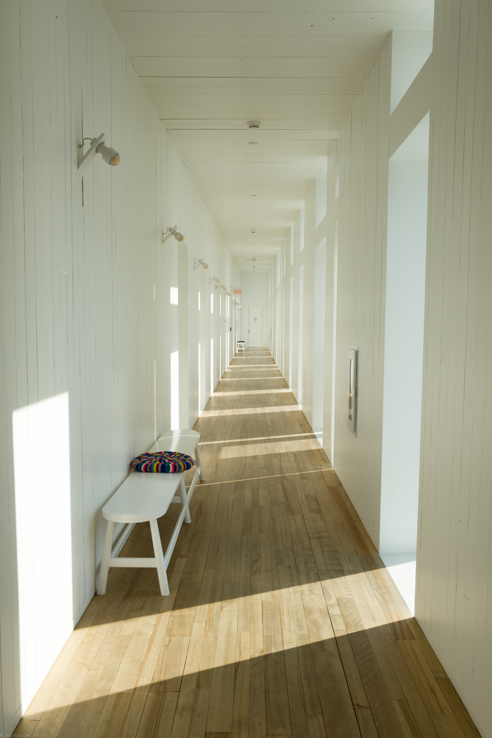 Hallways full of light.
