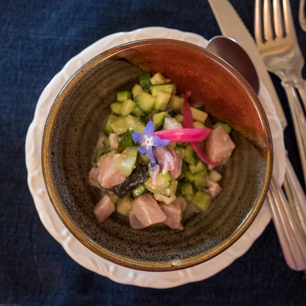 Ceviche at Deckmans en el Moghor.