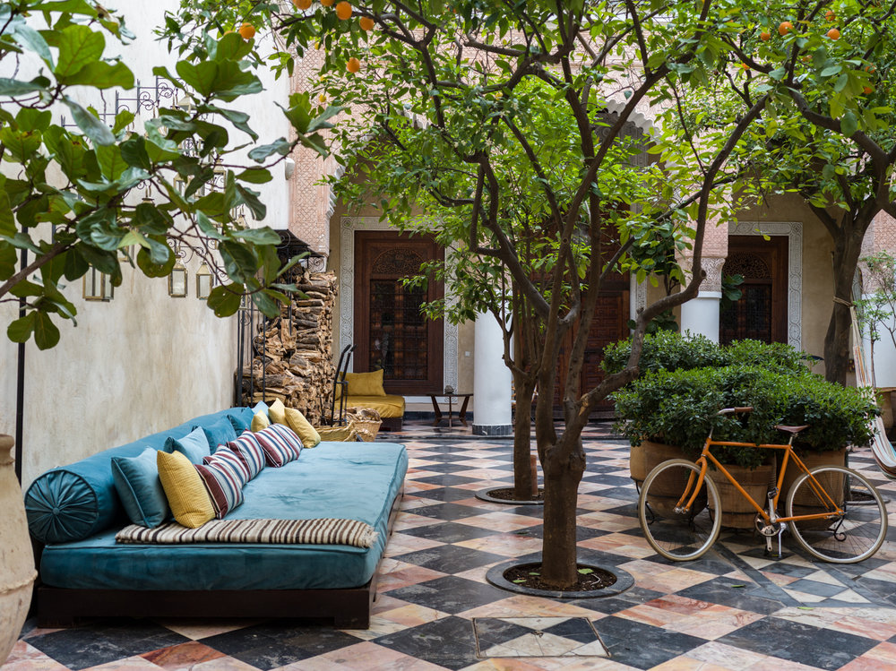 Courtyard at El Fenn