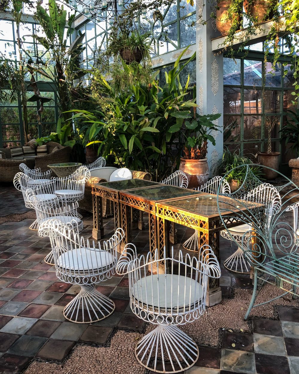 Greenhouse atrium at Beldi Country Club
