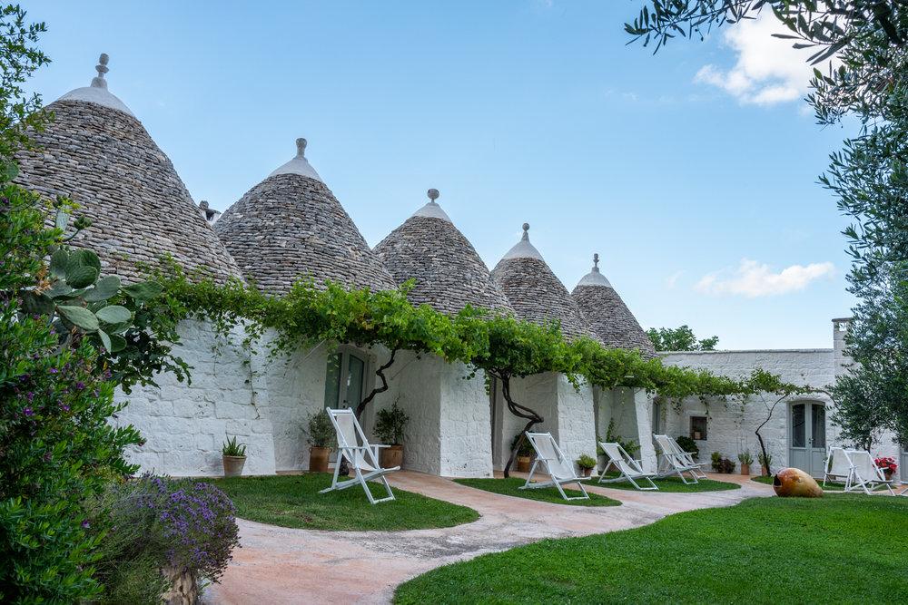 Trulli Guestrooms at Masseria Cervarolo