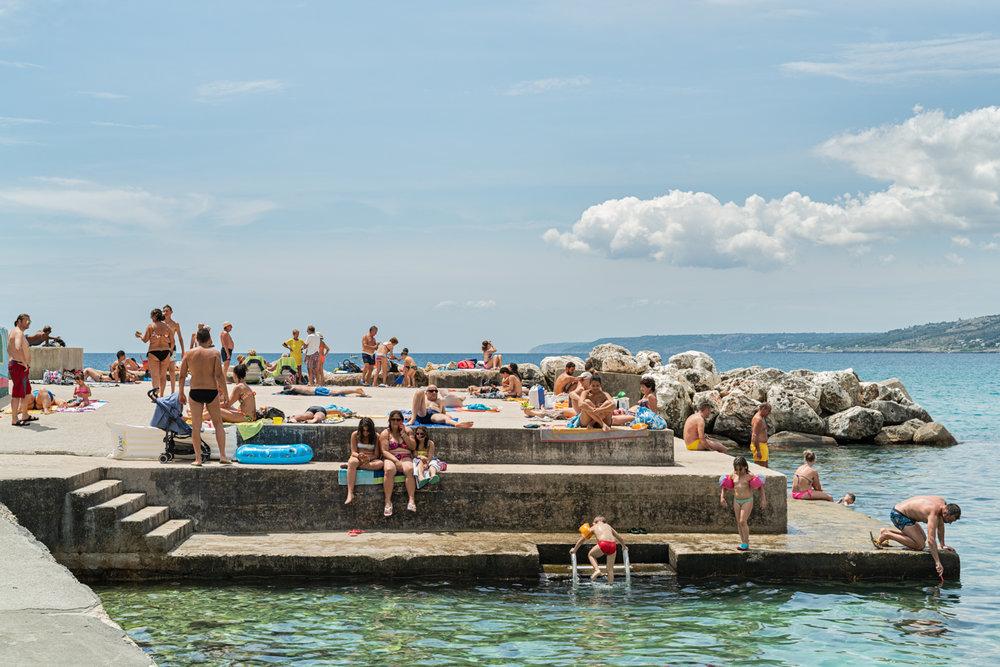 Swimming at Castro Marina