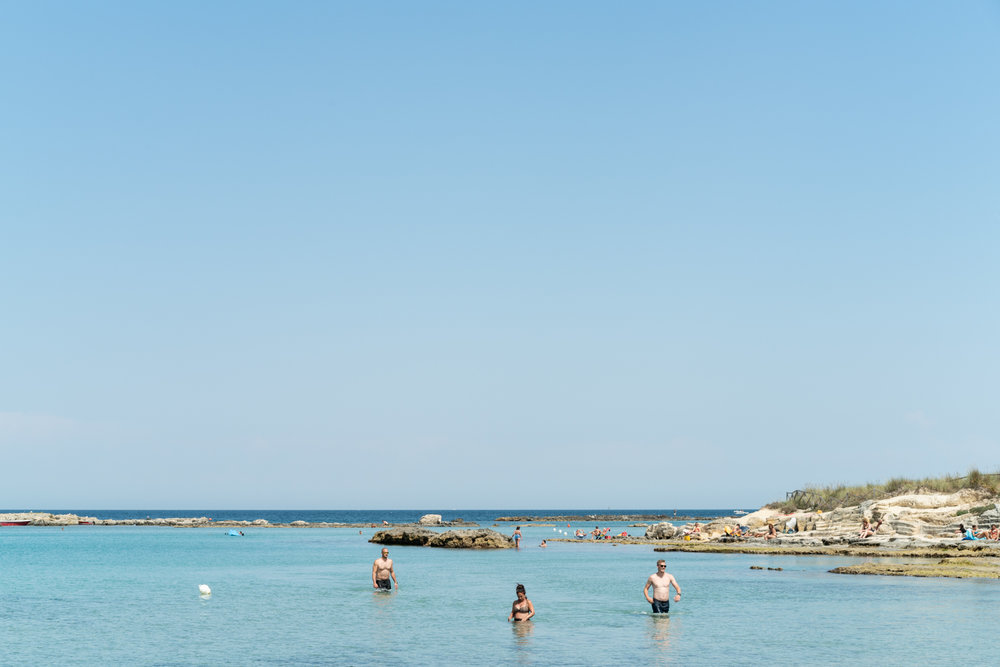 Swimming at Lido La Castellana