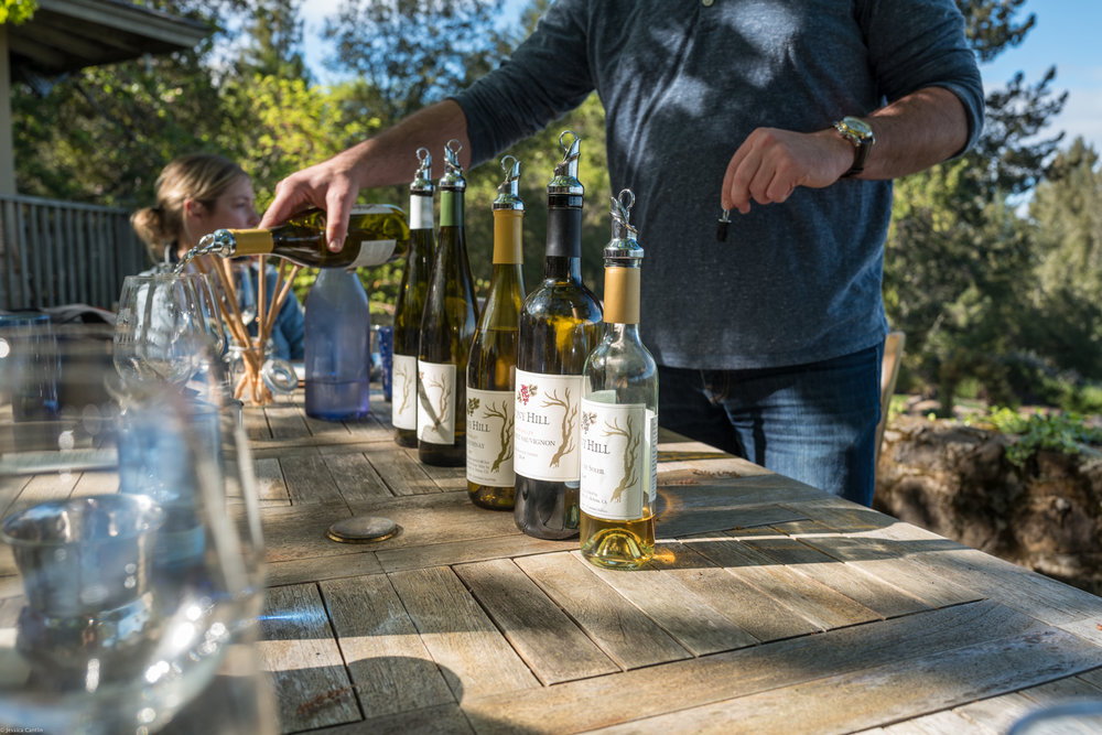 Tasting at Stony Hill Vineyard