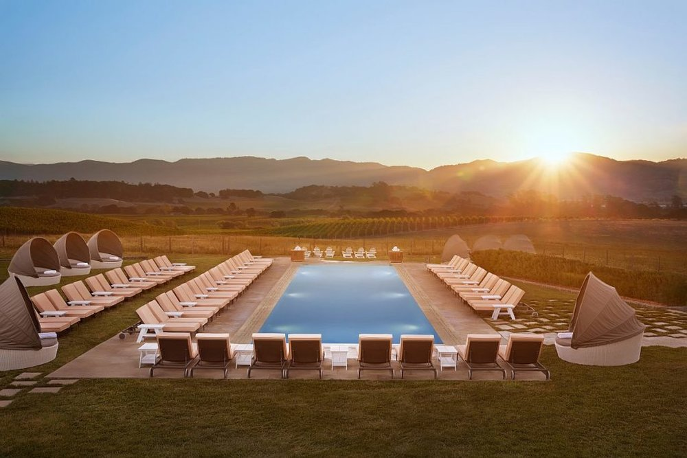 Hilltop pool at Carneros Resort and Spa  (photo courtesy of Carneros Resort and Spa)