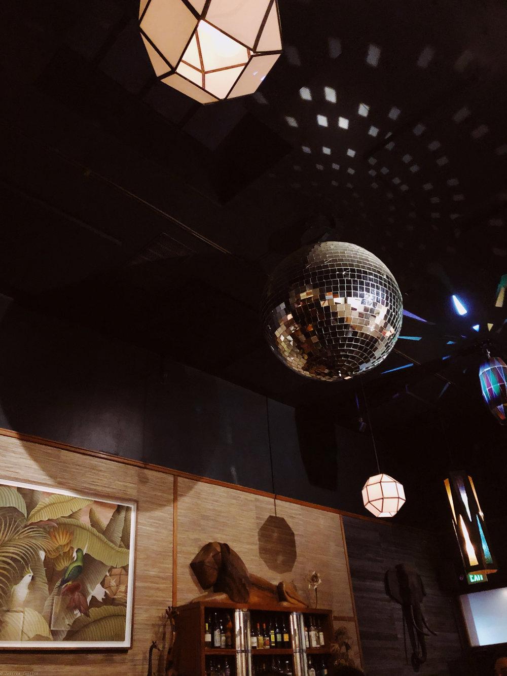 Interiors of bar, Bon Voyage