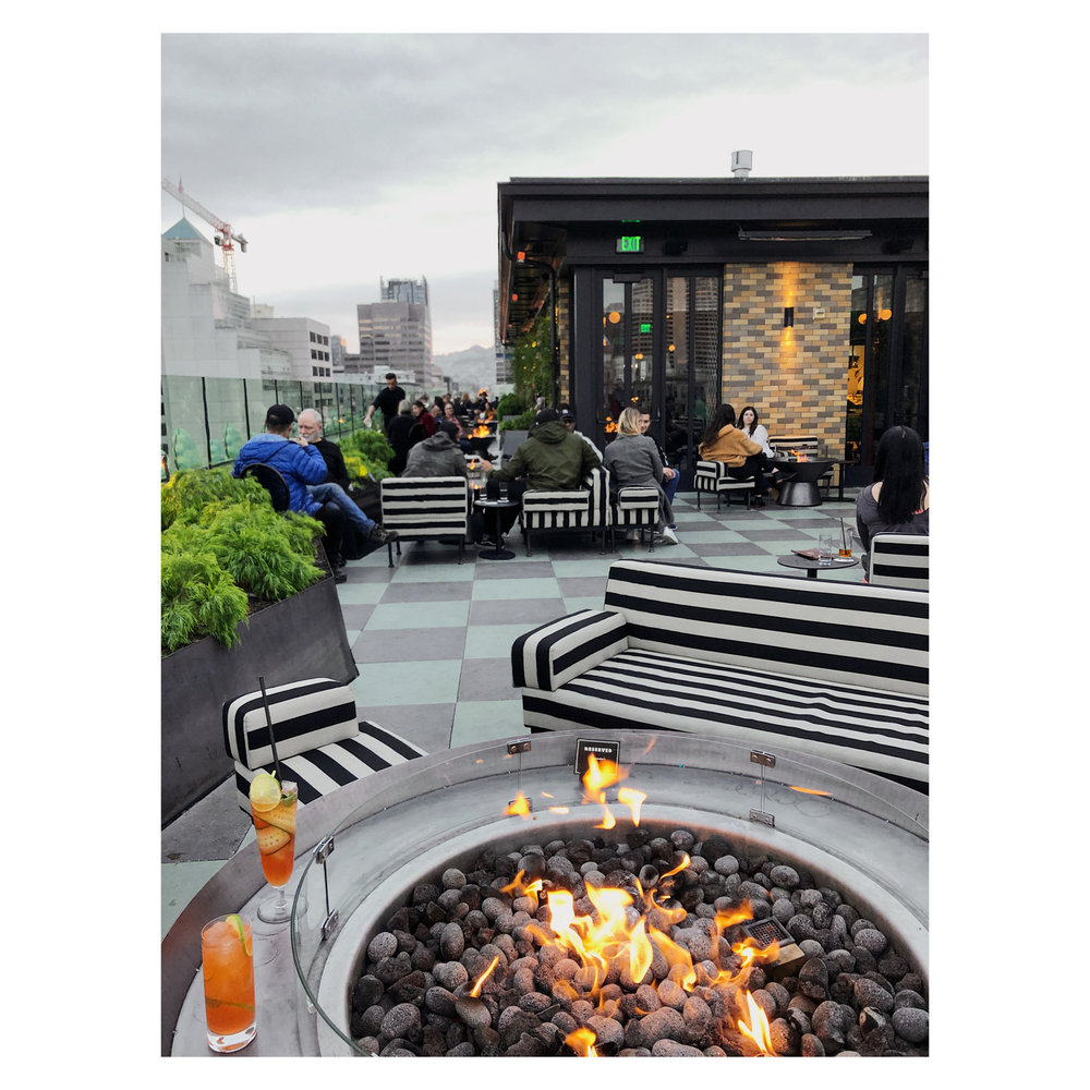 Rooftop bar Charmaines at Proper Hotel