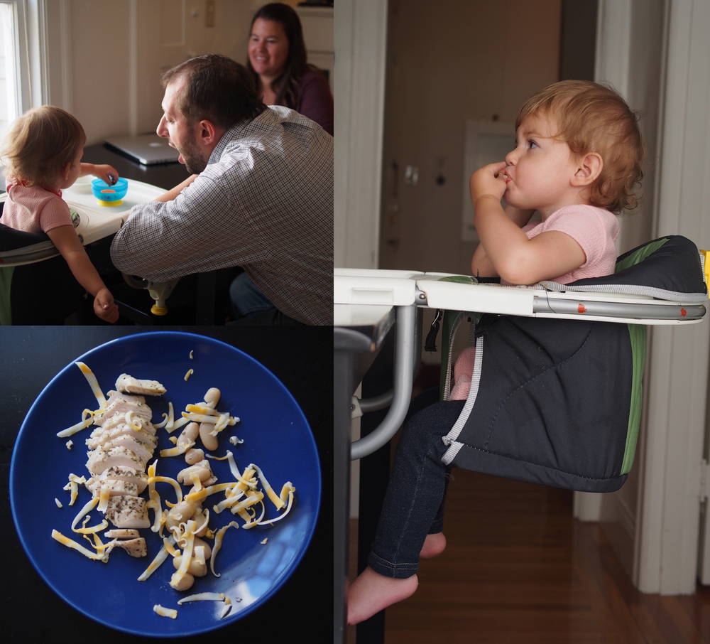 Anna's Chicco 360 high chair saves some valuable real estate at meal times.