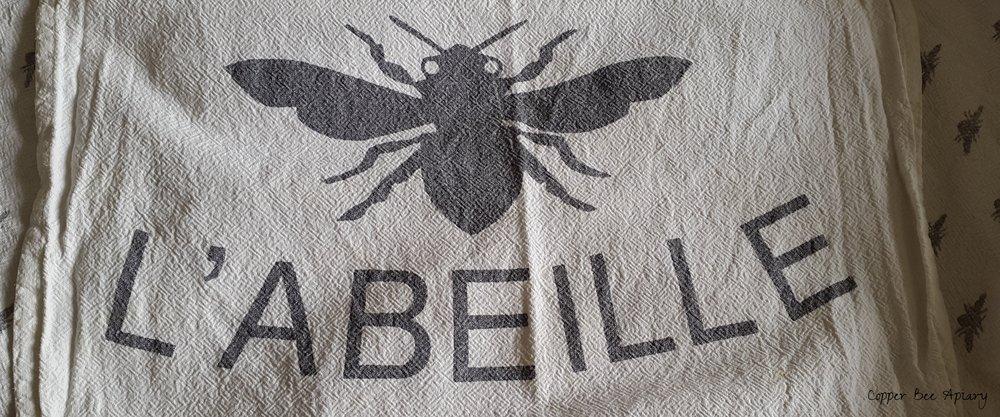 Beekeeping tea towel