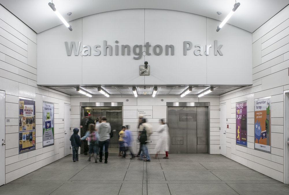 Washington Park MAX Stop  ZGF + Mayer Reed