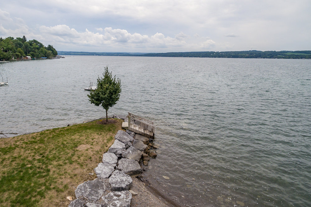 The Owner of this property will be able to enjoy full access to Skaneateles Lake and enjoy the lake itself, by way of a deeded easement and off-shore mooring.