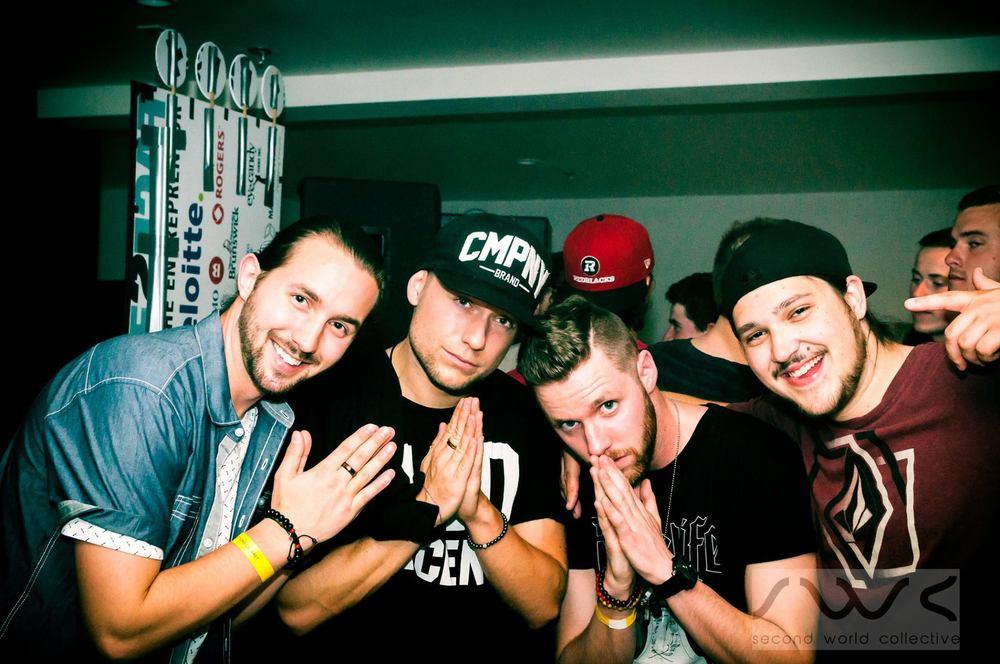 Left to Right: Jesse, Party Favor, Mixre, J-Hubz