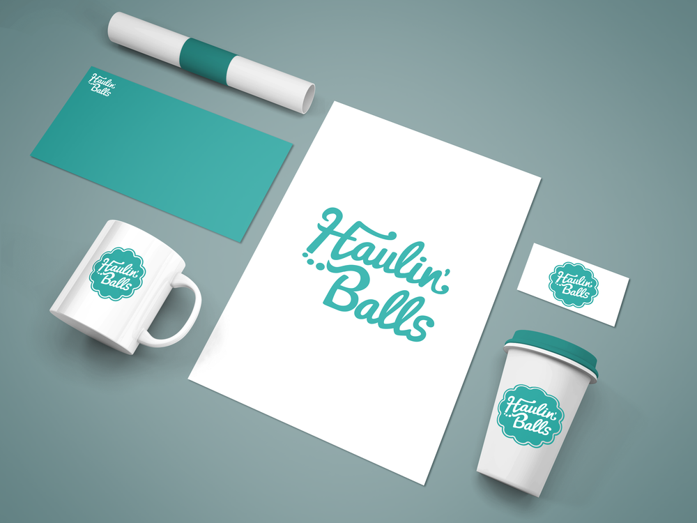 Haulin' Balls   Haulin' Balls is a cake ball company in North Carolina. The company's owner wanted all of their branding to be inspired by their vintage Volkswagen Van. They reached out to the company I worked for in North Carolina. I worked close with the client to provide a logo that matched the vibe they were striving for. I used Illustrator to design their logo.