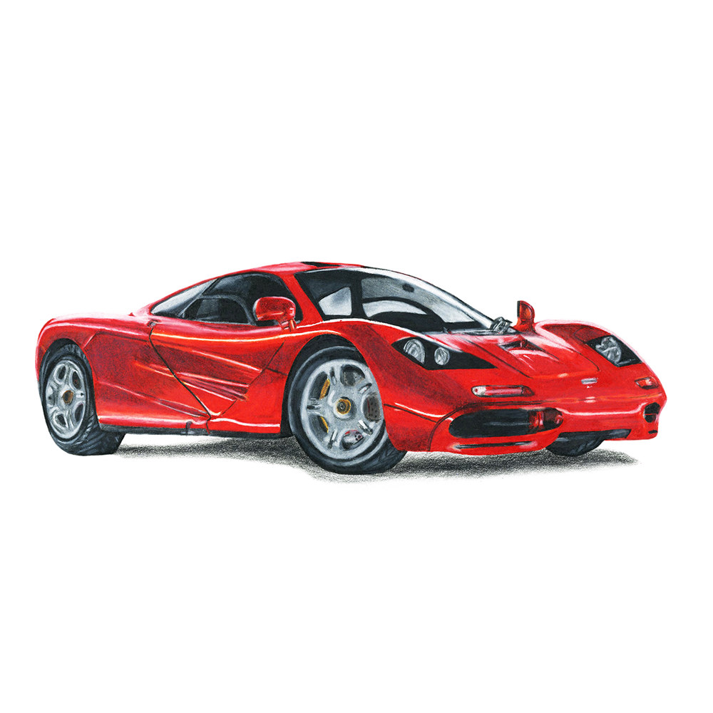 McLaren Illustration   I created this illustration of a McLaren using Prismacolor pencils on watercolor paper.