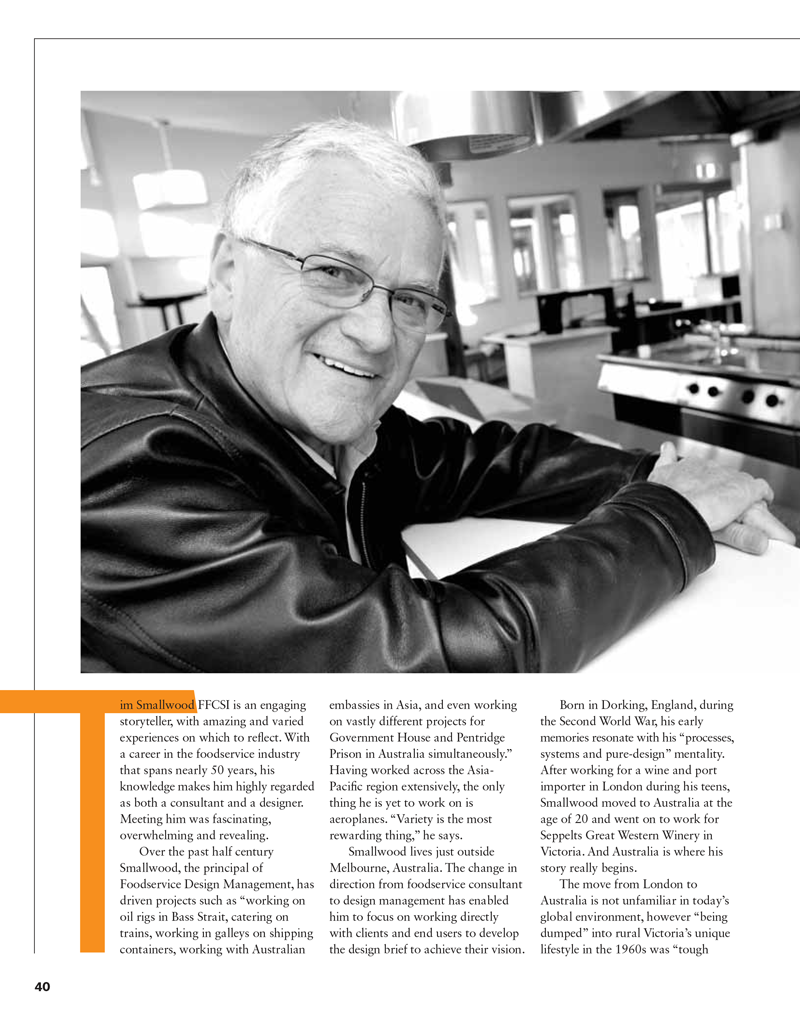 Tim Smallwood Foodservice Consultants Magazine