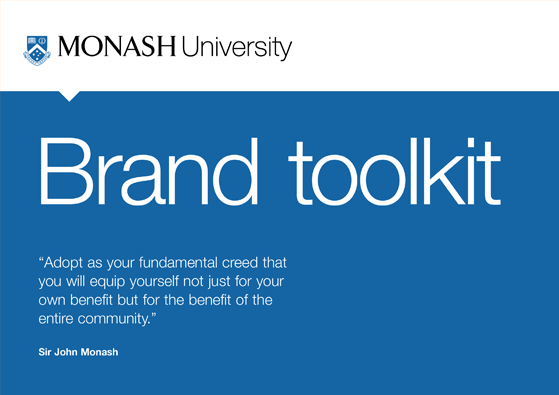 Monash University brand guidelines