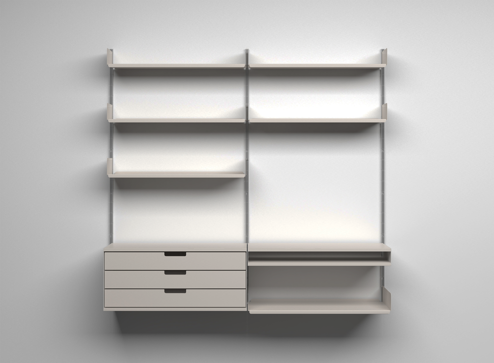 Vitsoe 606 Universal Shelving System by Dieter Rams