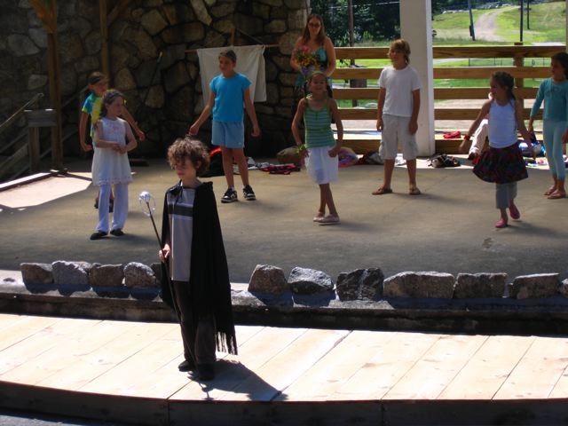 Kids Camp attendees perform The Tempest, July 2008