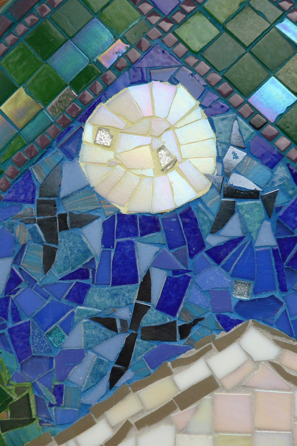 A close-up detail of the mosaic.