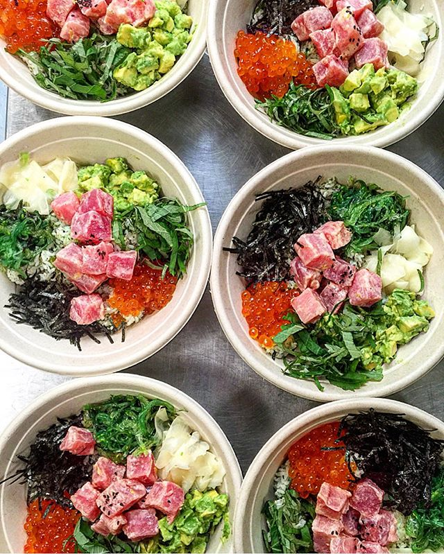 my #pokemongo game is strong 💪💪💪 come taste for yourself here @hanjipbbq 😝 #tuna #poke #lunch #Korean #BBQ #instagood #eeeeeats #picoftheday @frenchyfoody @misterfrancois