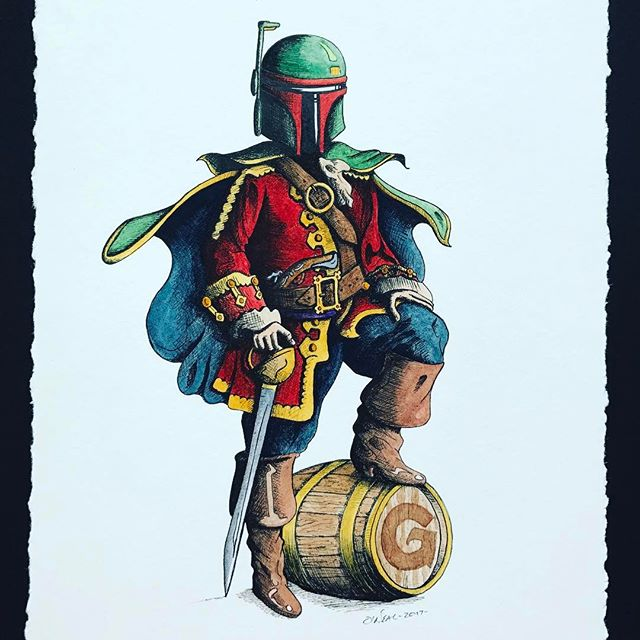 Captain Boba-Fett-Morgan ❤️💚🍹🛢 This is what you get when you're a fan of Captain Morgan and Boba-Fett. Drink up you Star Wars fans! #GeorgetownUniversity