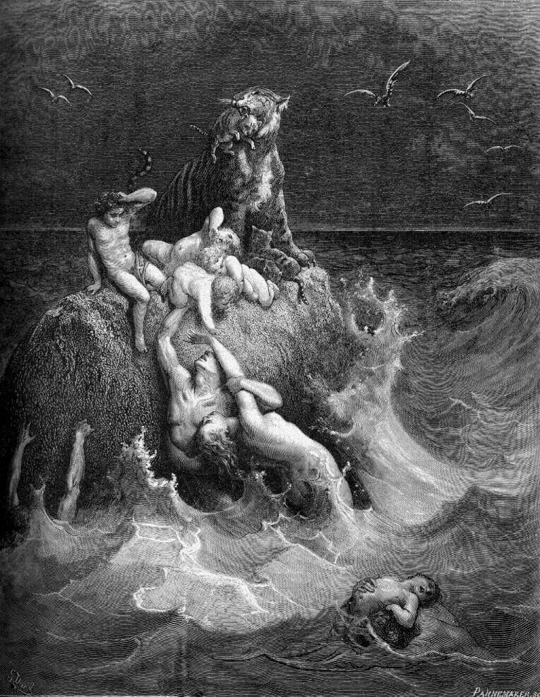 The Deluge - Gustav Dore (1866)