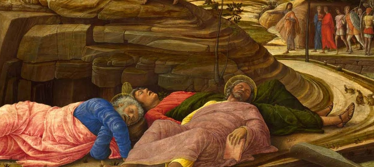 Jesus being pissed off that you fell asleep (Matthew 26:36