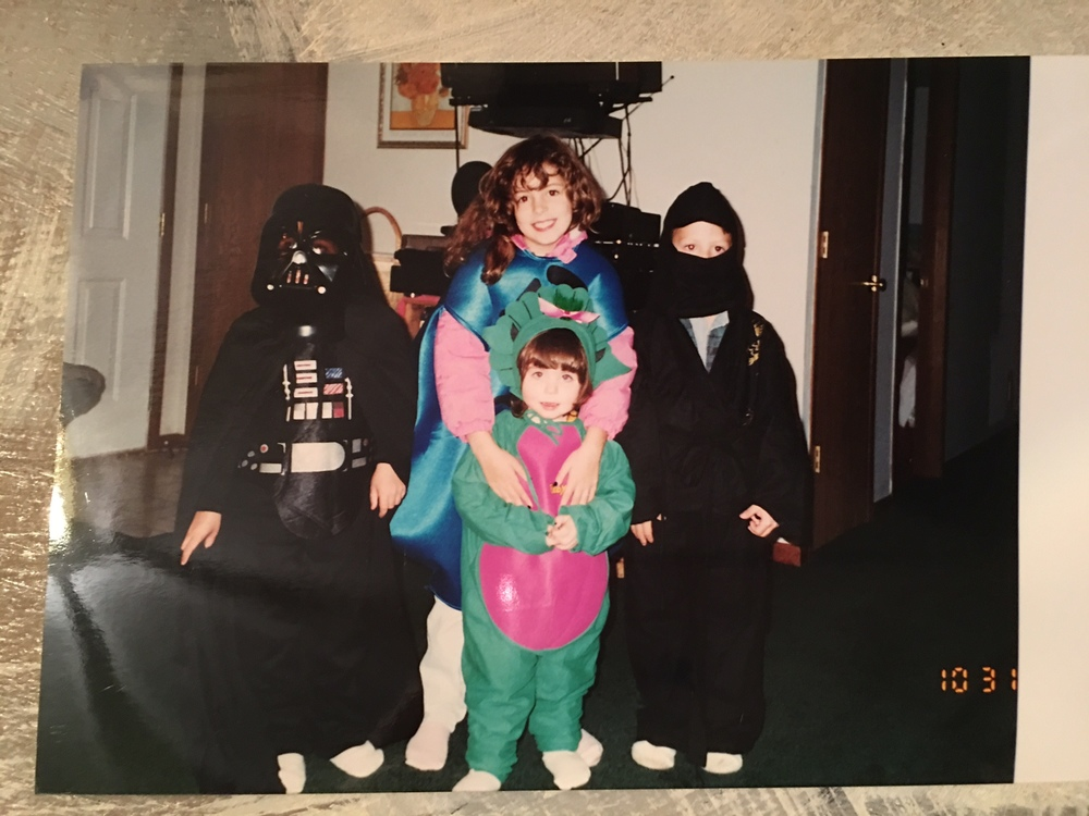 Matt on the left, Sara, Me, & Joe on the right on Halloween.