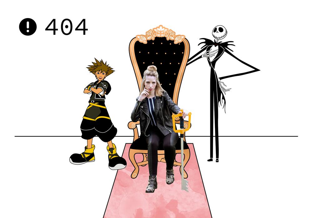 Kingdom Hearts Custom 404 page by Sarasure