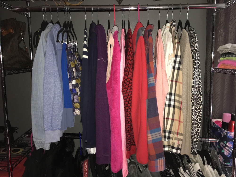 Currently missing a few pieces of clothing; I have yet to do laundry.