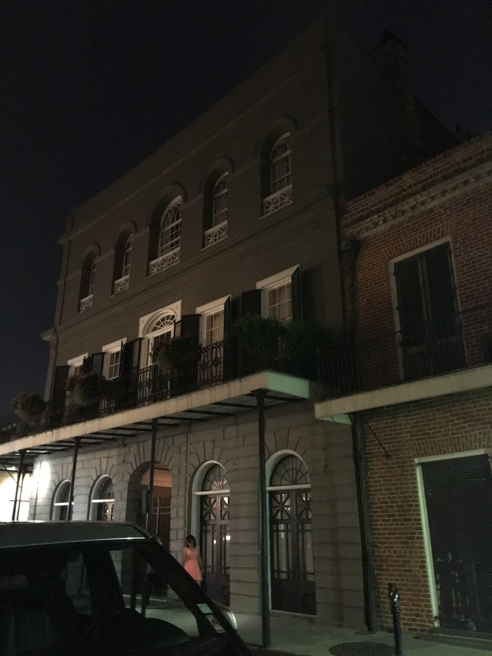 This is Madame LaLaurie's house which later ended up being Nicolas Cage's home.