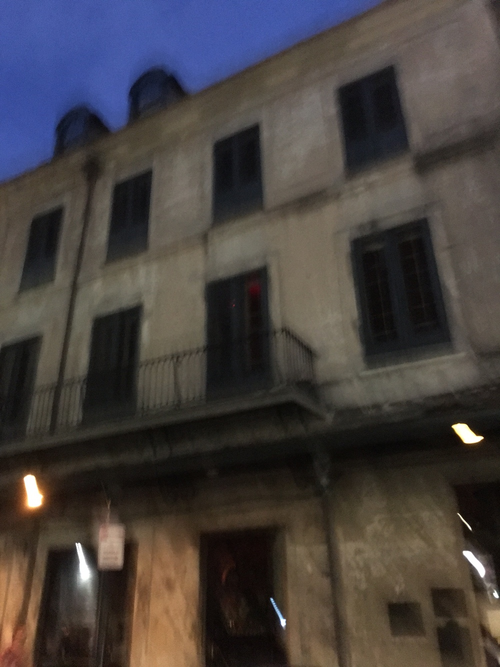 This picture is super blurry, I know, but this is the Napoleon house where they would take half dead soldiers from the civil war and drag their bodies through the streets. A lot of people obviously got tons of diseases and ended up dying in that building.