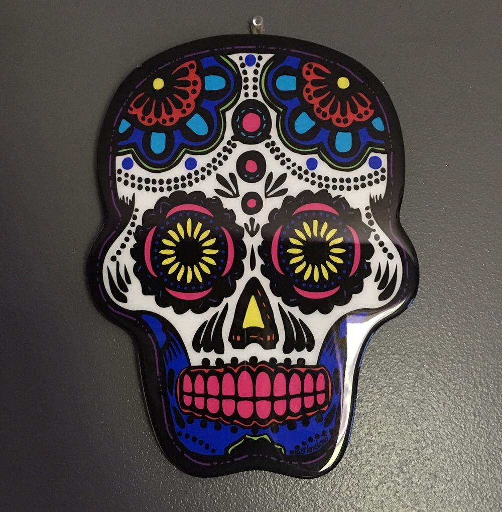 My sugar skull from this cute little store in the French Quarter.