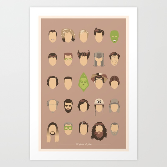 """25 FACES OF JIM"" by Maxime Pecourt"