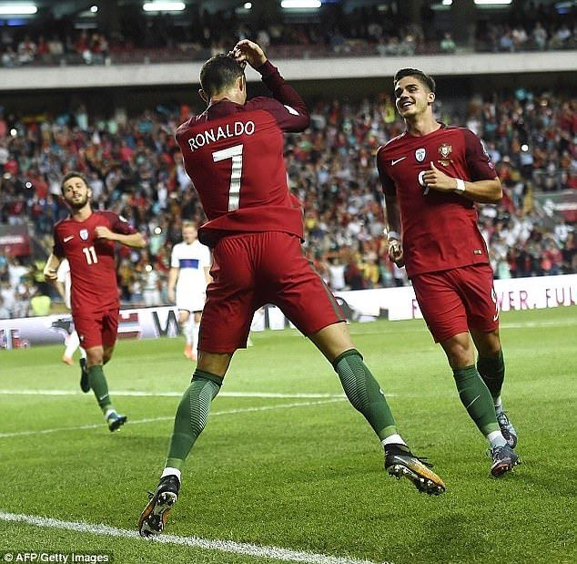 A penalty from Captain Cristiano Ronaldo puts Portugal up 1-0 ahead of Spain!!