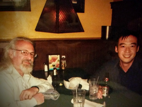 Meeting up with Evan (many moons ago) for Mexican food after the showing of one of his plays in New York City.