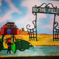 Judy Funnie discovers Blythe Field, where her poetry idol wrote all of his best work.  (DIsney's Doug(TM) is a trademark of The Walt Disney Company)