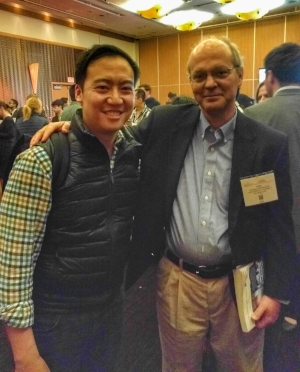 Catching up with Mike at the AIChE Annual Meeting in 2016, held in San Francisco that year. I also presented a talk with the AIChE Management Division that year.