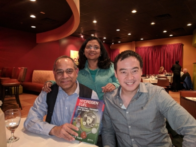 In Richmond with Ram and his wife for catch-up, book signings and spicy Indian food.