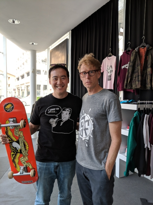 With modern day Renaissance skater and shop owner Bob, who has been a part of skateboarding since its start, having been active from movie cameos and skate mags to the early community building days of the first major skateboarding pros and their brands.