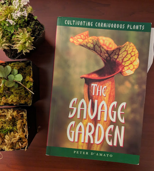 My well worn 1998 copy of The Savage Garden by Peter D'Amato, whom every modern carnivorous plant enthusiast, from the windowsill hobbyist to the PhD field botanist, will cite as an influence and source of inspiration.