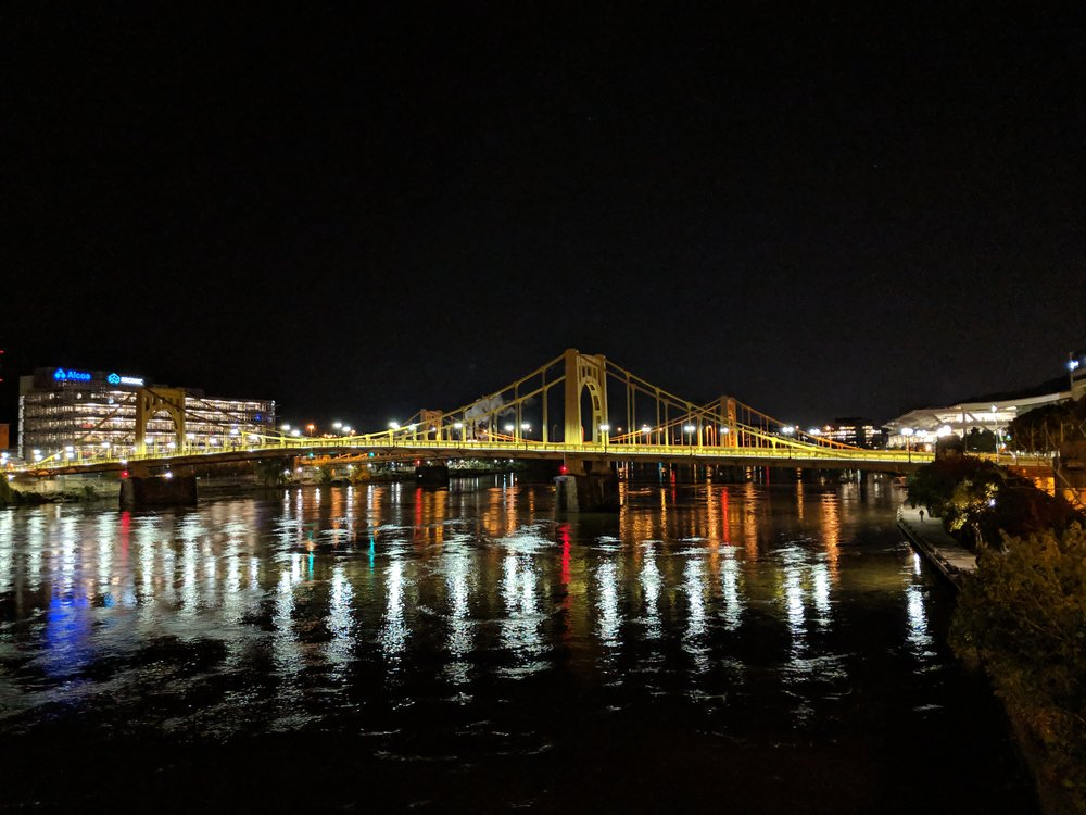 Obligatory photo of one of Pittsburgh's many bridges.