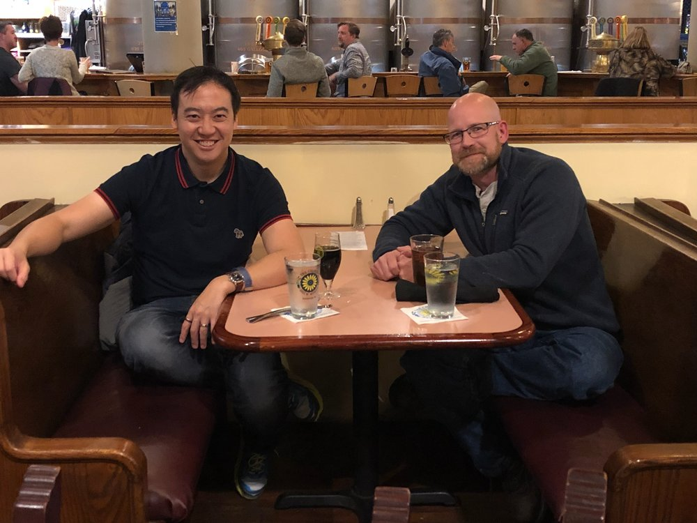 The added bonus of the trip being in Pittsburgh was the chance to catch up with my longtime friend (and former chemist himself) John. When John and I both worked for Duracell Batteries in Connecticut, we'd plan Friday lunch excursions that involved road side shacks and the indie comic book shop or two.
