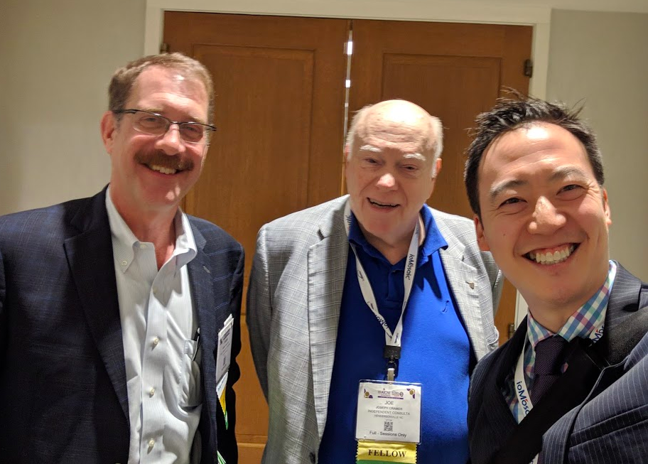 With Management Division leaders Frank van Lier and Joe Cramer in between sessions.