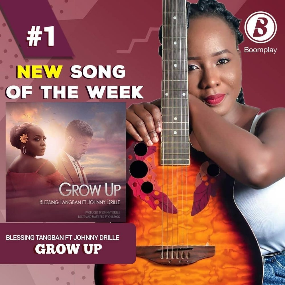 'GROW UP' IS THE  NUMBER ONE SONG ON BOOMPLAY MUSIC(Africa's Number one music streaming and download service)  - Exactly one week after it's release on the 26th of August, 'Grow Up'  beat other popular songs and musicians, to win the title of Number one song of the week on Boomplay (Africa's number one music streaming and download service) Honestly speaking, this is the first time any artist from Abuja Nigeria has attained this feat. I'm officially the first alternative artist from Abuja Nigeria,  to also beat hip hop and afro beat musicians to the number one spot! no kidding! we went from number 4, to number 1 in a matter of hours! As an artist, this is a big achievement for me. i've never been on any musical chart before so to be recognized this way, and for my music to gain such acceptance is indeed noteworthy. The best part about this win is that I was completely and totally nominated by the fans. Please click this link to stream and download 'Grow Up'. Thank you