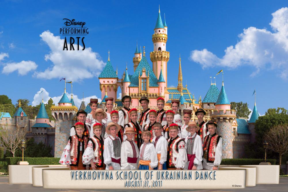 Verkhovyna Dance School Disneyland Group Photo
