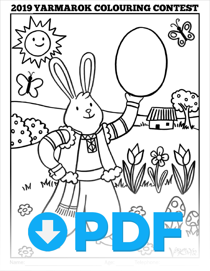 Yarmarok 2019 Colouring Contest - Please click here to download and print a PDF of this year's colouring contest image.