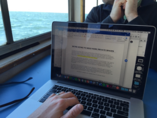 Working on this post while riding commuting to work. Yes, I get to ride a ferry every day.