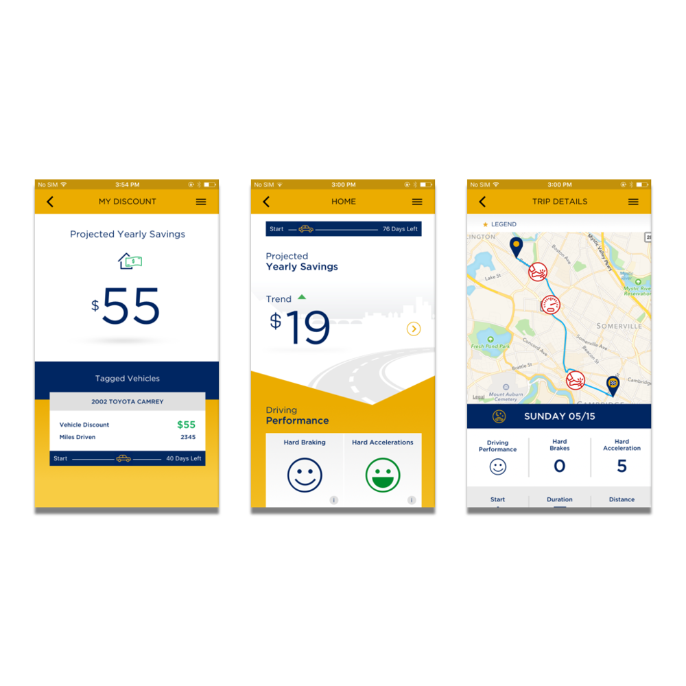 Liberty Mutual RightTrack - project leadership | ux research | creative direction | agileLiberty Mutual asked us to build a safe driving app that helped users understand their driving behavior and through that improve. And improvement earned insurance discounts for users.