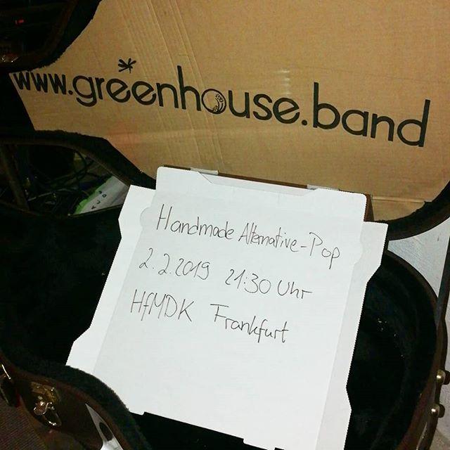 Übrigens... Wir kommen ins schöne Hessen. 💚 #greenhouseband #hfmdkjazzfest #frankfurt #goodmusic #handmade #alternativ #hiphop #pop #blues #allesausserjazz #savethedate